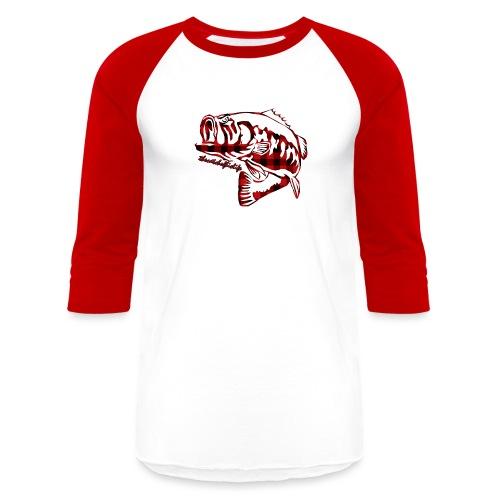 RedPlaidBaseballT - Baseball T-Shirt