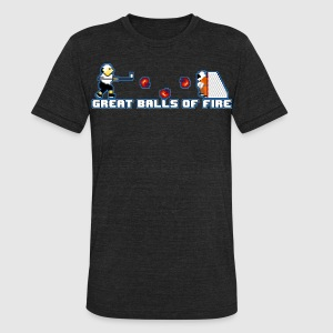 Great Balls of Fire - Unisex Tri-Blend T-Shirt by American Apparel