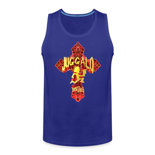 Blox3dnyc.com Juggalo Cross design. - Men's Premium Tank