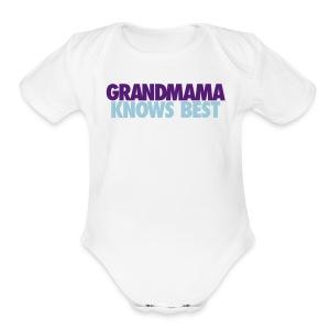 BABY GRANDMAMA KNOWS BEST LJ2 - Short Sleeve Baby Bodysuit