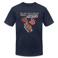 T-Shirts ~ Men's T-Shirt by American Apparel ~ Eat Bacon: Real Food Love [Men's AA Fitted Tee]