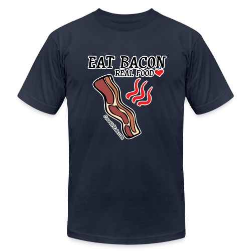 Eat Bacon: Real Food Love [Men's AA Fitted Tee] - Men's Fine Jersey T-Shirt