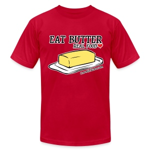 Eat Butter: Real Food Love [Men's AA Fitted Tee] - Men's T-Shirt by American Apparel