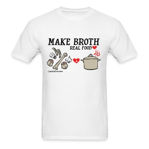 Make Broth: Real Food Love [Men's Standard Tee] - Men's T-Shirt