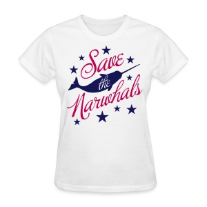 Save the Narwhals (navy/red) - Women's T-Shirt