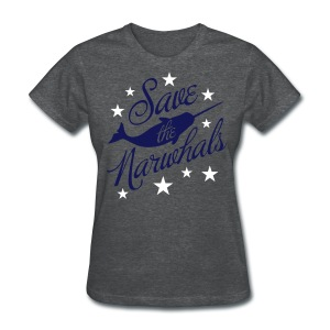 Save the Narwhals (navy/white) - Women's T-Shirt
