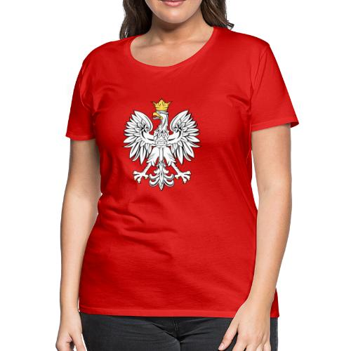 Womens Polish Eagle T-Shirt - Women's Premium T-Shirt