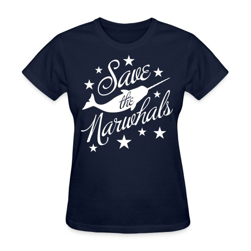 Save the Narwhals (white) - Women's T-Shirt