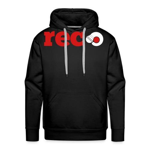 Record Repeat Hoodie Large Logo - Men's Premium Hoodie