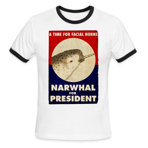 Facial Horns - Men's Ringer T-Shirt