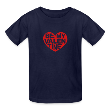 Be my valentine heart Kids' Shirts
