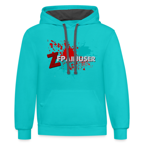 Official ZFPainuser Twitch Hoodie - Contrast Hoodie
