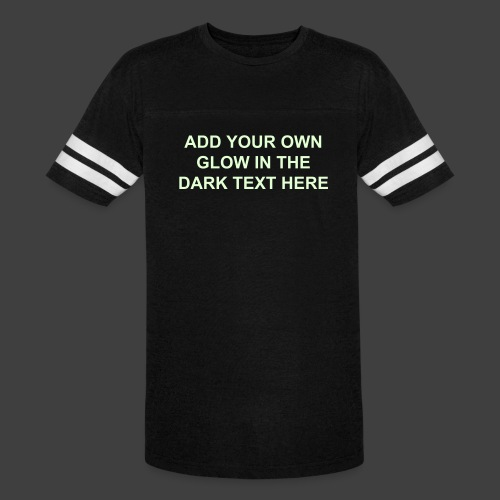 ea37690b Vintage Sports Shirt - Add Your Own Glow in the Dark Text - Vintage Sport T