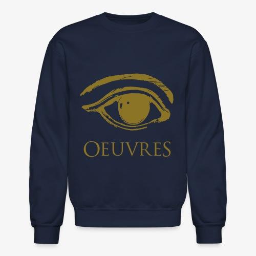 Oeuvres Perspective Eye Crew Neck Gold - Crewneck Sweatshirt