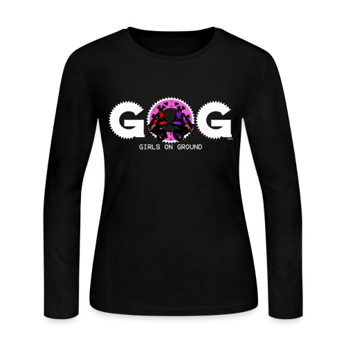 G.O.G WOMENS LONG SLEEVE T SHIRT WHITE LOGO - Women's Long Sleeve Jersey T-Shirt