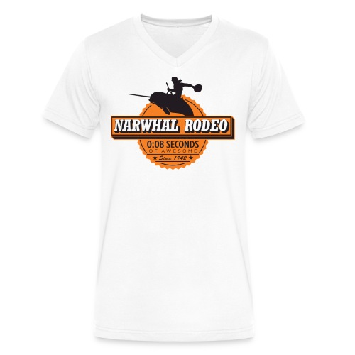 Narwhal Rodeo Awesome - Men's V-Neck T-Shirt by Canvas