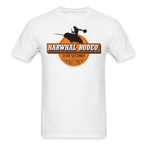 Narwhal Rodeo Awesome - Men's T-Shirt