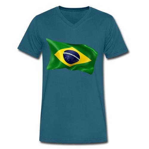 Brazil - Men's V-Neck T-Shirt by Canvas