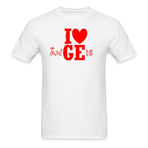 Guys Love Georgian Angels Tee (35% flag) - Men's T-Shirt