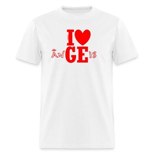 Guys Love Georgian Angels (30% flag) - Men's T-Shirt