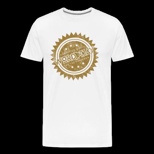 Wordplay T. Jay Certified Tee - White - Men's Premium T-Shirt