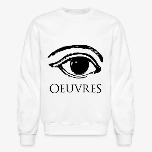 Oeuvres Perspective Eye Crew neck Velvet - Crewneck Sweatshirt