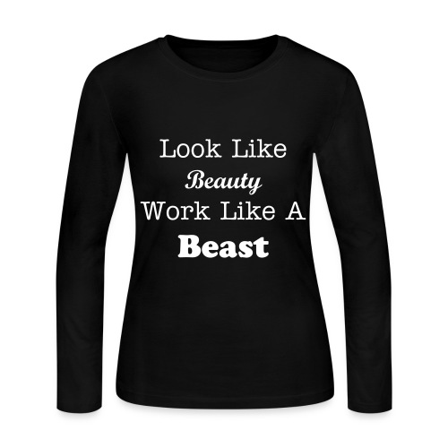 Beauty & The Beast  - Women's Long Sleeve Jersey T-Shirt