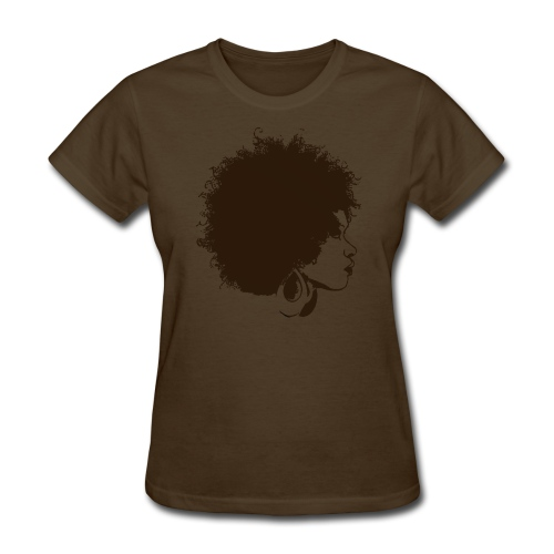 Women's T-Shirt - women,woman,people,natural hair,fro,afro