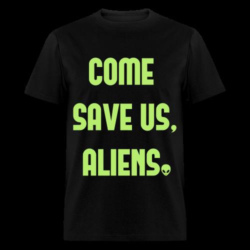 Corrupt Nation Come Save Us T-Shirt - Men's T-Shirt