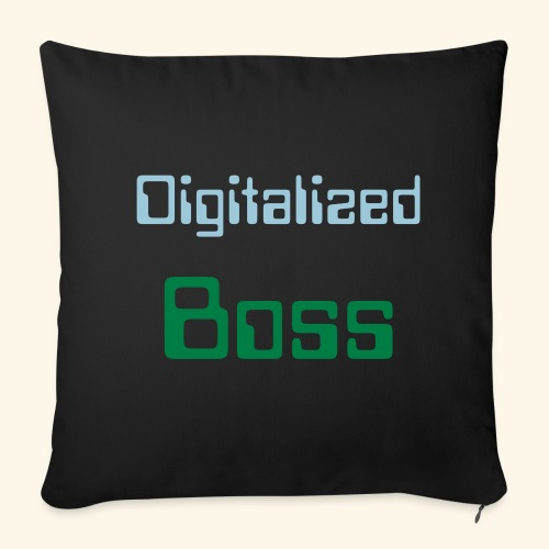 Digitalized Boss Throw Pillow Cover - Throw Pillow Cover
