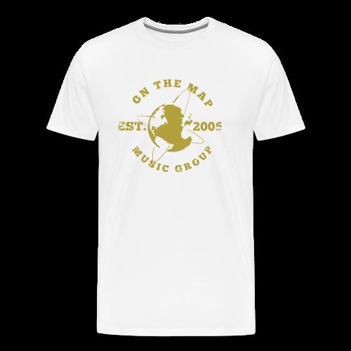 On The Map University Tee Gold/White - Mens - Men's Premium T-Shirt