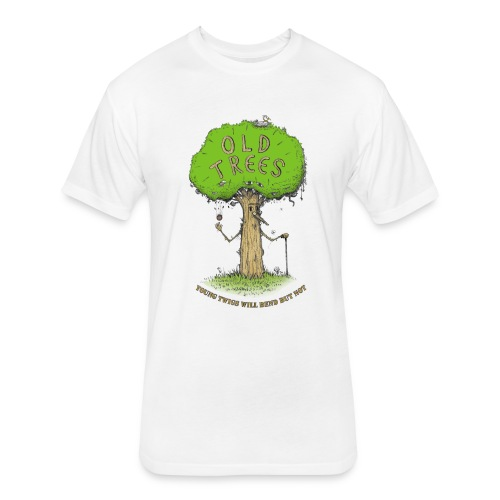 old tree - Fitted Cotton/Poly T-Shirt by Next Level