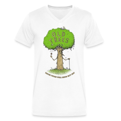 old tree - Men's V-Neck T-Shirt by Canvas