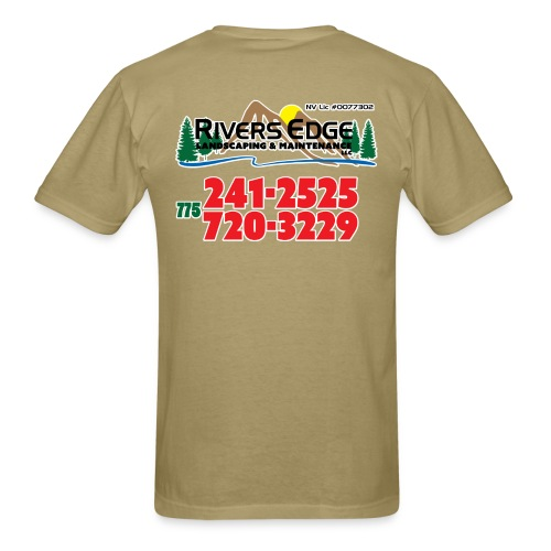 RIVERS EDGE LANDSCAPING AND MAINTENANCE TEES - Men's T-Shirt