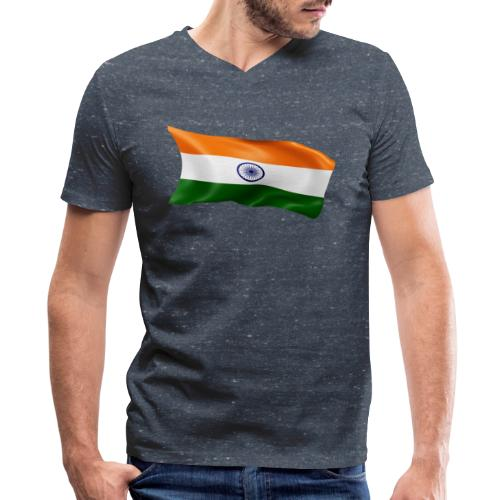 India - Men's V-Neck T-Shirt by Canvas