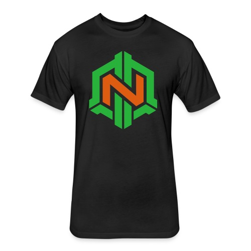 Engineer Hoist -  Fitted Cotton/Poly T-Shirt by Next Level Black No Mission Black - Fitted Cotton/Poly T-Shirt by Next Level