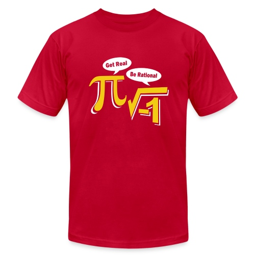 Get Real Be Rational - Men's  Jersey T-Shirt