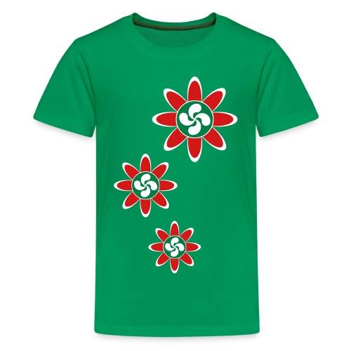 Basque country flower - Kids' Premium T-Shirt