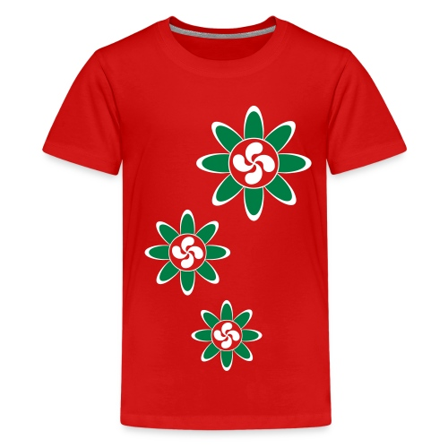 Basque country flower - Kids' Premium T-Shirt