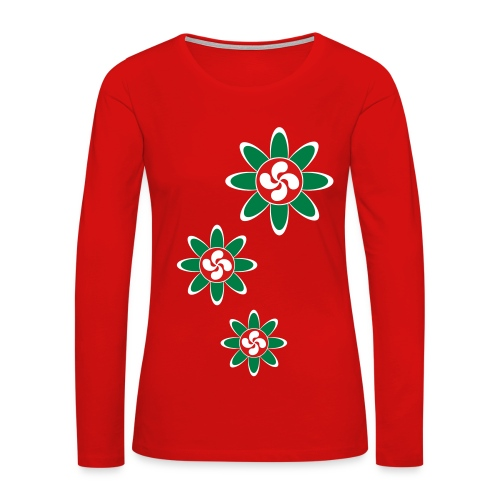 Basque country flower - Women's Premium Long Sleeve T-Shirt