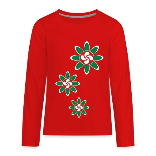 Basque country flower - Kids' Premium Long Sleeve T-Shirt