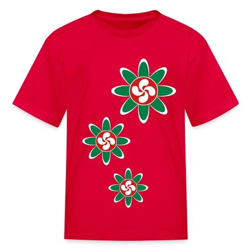 Basque country flower - Kids' T-Shirt