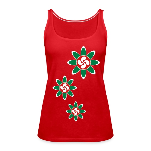 Basque country flower - Women's Premium Tank Top