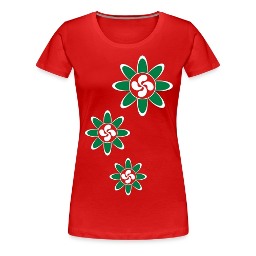 Basque country flower - Women's Premium T-Shirt