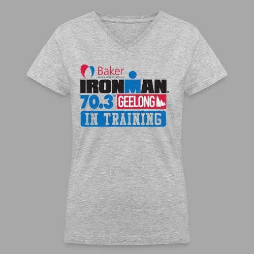 70.3 Geelong In Training Women's V-Neck T-shirt - Women's V-Neck T-Shirt
