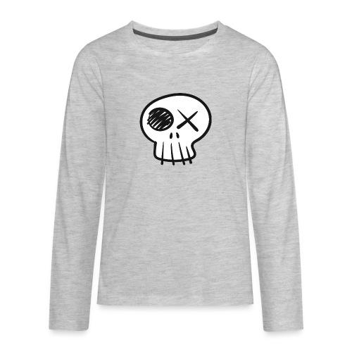 Funny Skull - Kids' Premium Long Sleeve T-Shirt