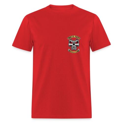 Bats Out Cycling_Red - Men's T-Shirt