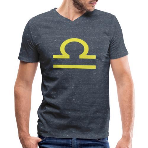 Libra - Men's V-Neck T-Shirt by Canvas