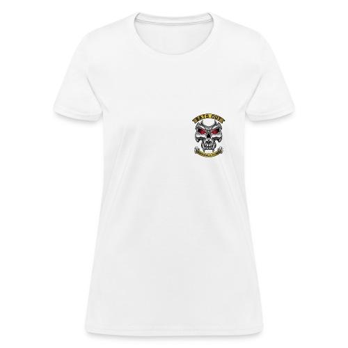 Women_Bats Out Cycling_Light - Women's T-Shirt