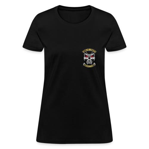 Women_Bats Out Cycling_Dark - Women's T-Shirt